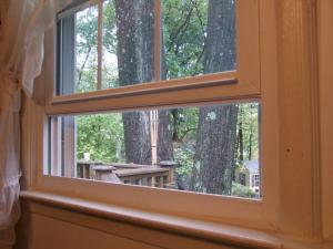 Sliding wooden window