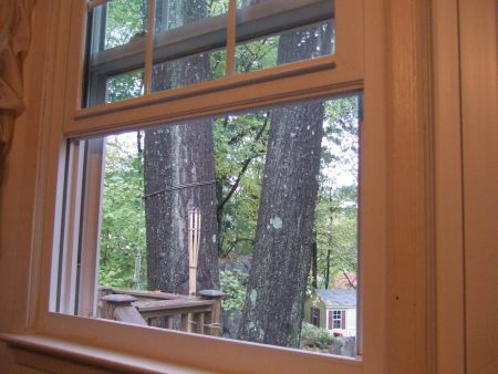 Sliding wooden window