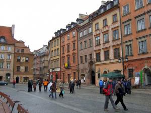 Warsaw, pedestrian atmosphere old city