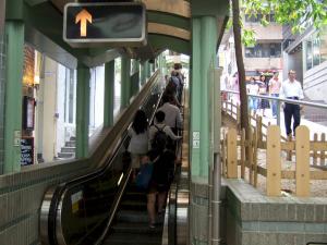 Hong Kong to Hollywood street