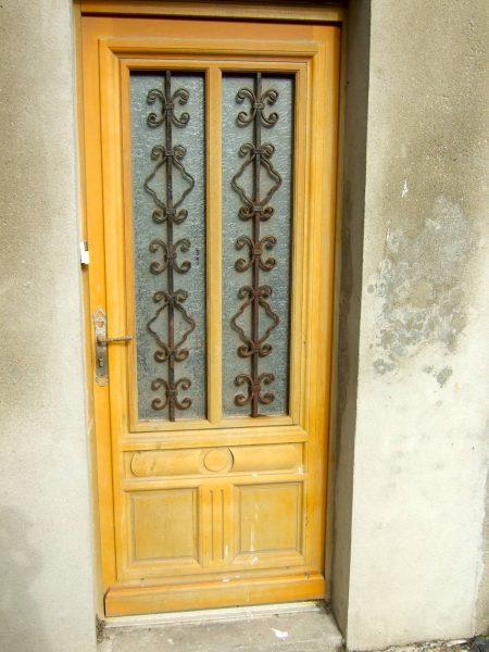 Glazed wood door