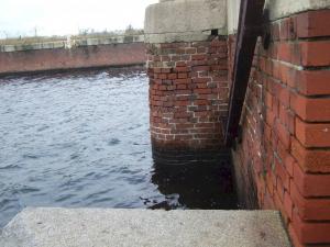 edge of harbor dock