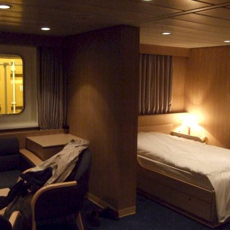 Container ship bedroom