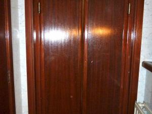 Swing wood door