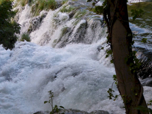 river rush into gorges
