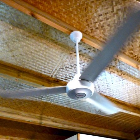 Indoor fan with blades