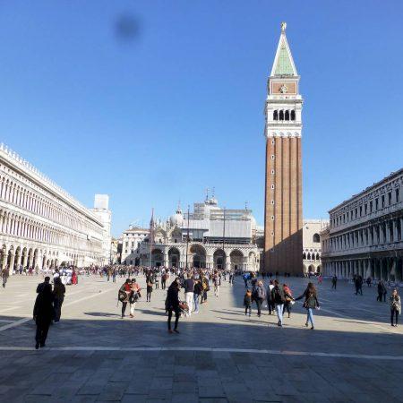 Venice, Campanile outside St. Mark's Square